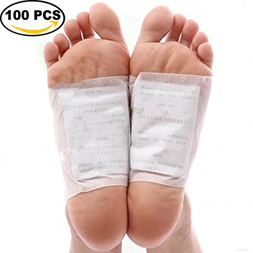 Foot Pad, Kapmore 100Pcs Pain Relief Health Care Foot Care Pad with 100Pcs Adhesive Sheet (White)
