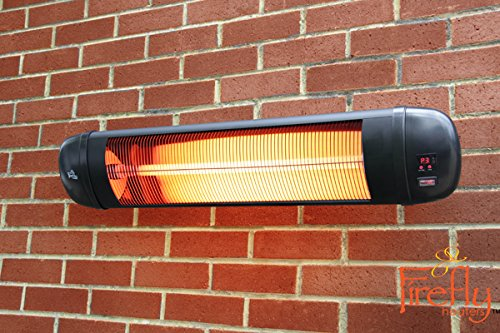 Wonderful Firefly 2kW Adjustable Infrared Garden Outdoor Indoor Wall Mounted Patio  Heater With Remote Control