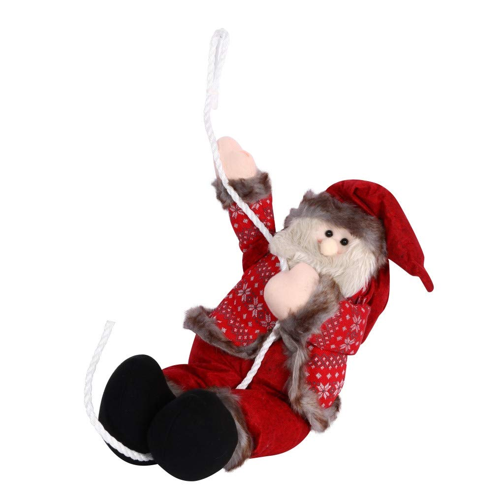 Christmas Climbing Santa Claus Decoration Toy Climbing On Rope Ladder Xmas Tree Indoor/Outdoor Hanging Ornament Decor by Gunel (XL) by Gunel home