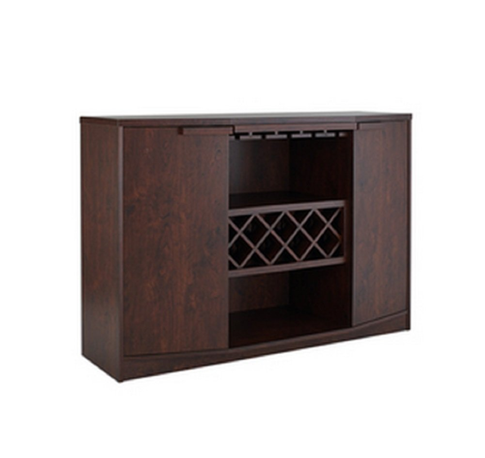 amazoncom wine bar buffet and storage cabinet with center glass  - amazoncom wine bar buffet and storage cabinet with center glass and winerack side shelves and open focal point shelf (black) kitchen  dining