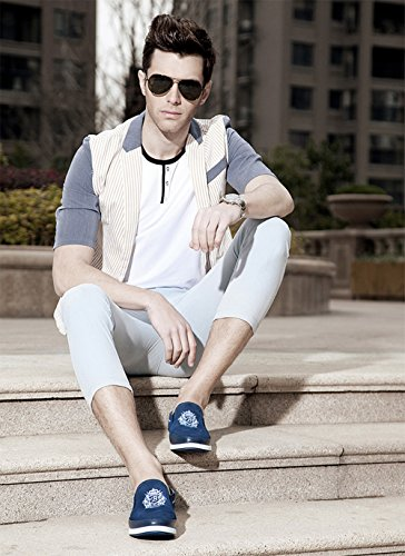 Mens Penny Loafer for Casual Walking and Outdoor Activities - High Fashion Blue GyXjX1j