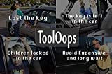 ToolOops 6-Pieces Vehicle Car Tool Kit - Long Reach Grabber Tool with Air Pump and Pry Tool for Car and Truck Safe