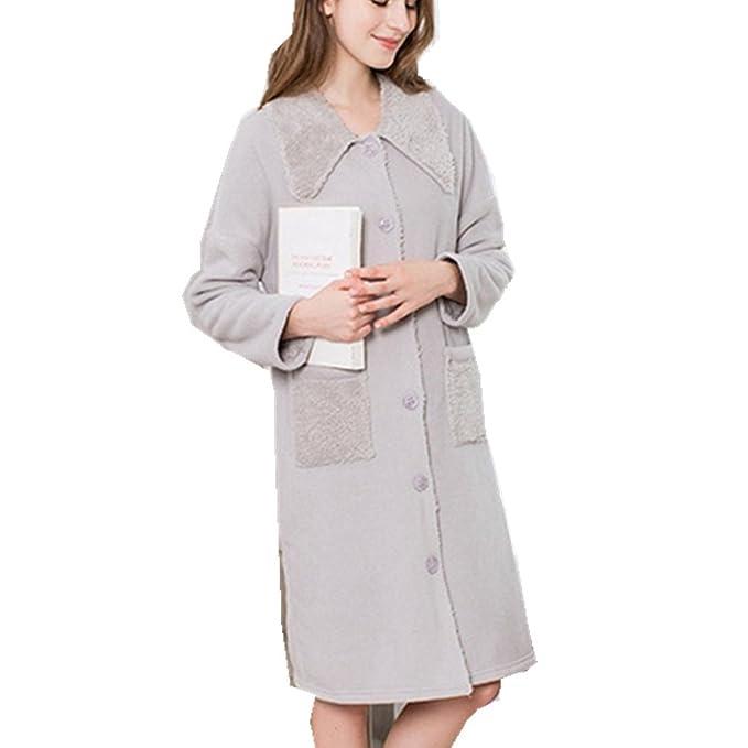 WanYang Vestido de Pijama de Franela de Fleece para Mujer Vestido de Pijama de Dormir Pijama