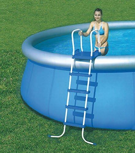 Bestway grande para piscina Escalera 4 peldaños-Plataforma x 132 cm: Amazon.es: Jardín