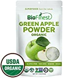 freeze dried greens powder - Biofinest Green Apple Powder -100% Pure Antioxidants Superfood - USDA Certified Organic Kosher Vegan Raw Non-GMO - Boost Digestion Detox Weight Loss - For Smoothie Beverage (4 oz Resealable Bag)