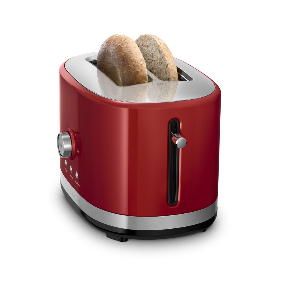p toaster s digital lcd steel with slice kitchenaid stainless display red