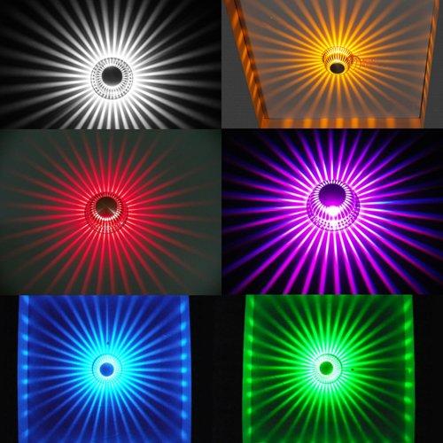 SHE'O Remote control Color change LED Spotlight Home Room Restaurant ceiling recessed LED Light downlight Bar Cafe Modern Ceiling fixture 3w Multi RGB Color changing LED spotlight downlight lamp Bulb Chandelier Lighting