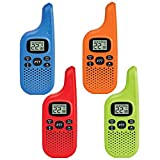 Midland - X-TALKER T20X4, 22 Channel FRS Walkie Talkie - Up to 16 Mile Range Two-Way Radio, 38 Privacy Codes, NOAA Weather Alert (4 Pack) (Multi-Color)