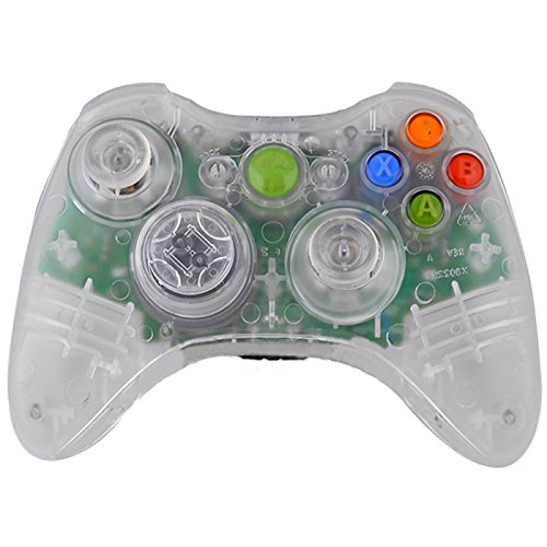 HDE Replacement Shell for Xbox 360 Wireless Controllers Includes Shell Buttons Thumbsticks Torx Screwdriver Replacement Case Cover and Tool Kit - Transparent Clear by HDE
