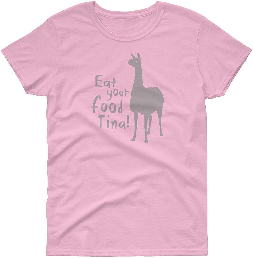 TeesMadeSimple - Eat Your Food Tina! - Women's Short Sleeve t-Shirt