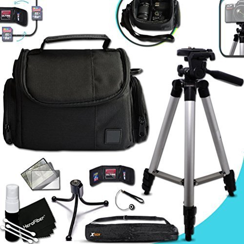 "Premium Well Padded Camera CASE/BAG and Full Size 60"" inch TRIPOD Accessories KIT CANON POWERSHOT G9X G9 X, G5X G5 X, G7X G7 X, G3X G3 X, G1X G1 X, G1 X Mark II, G1 X, G16, G15, SX710 SX610 Cameras"