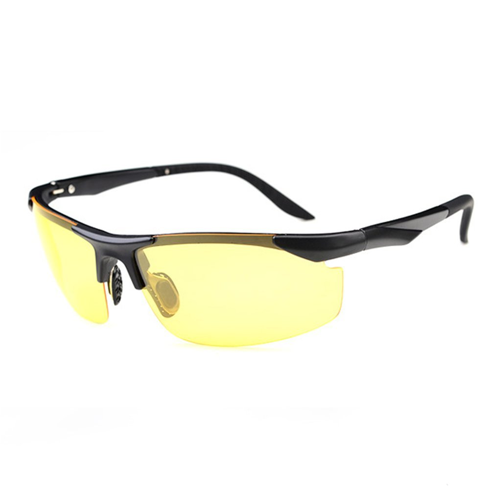 Z-P Fashion TR90 Memory-metal Frame Men's Sports Style Bicycle Driving Night Vision Polarized Night Sunglasses 70MM