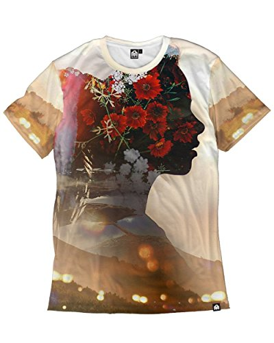 Design Inner - INTO THE AM Inner Bloom Men's Casual Tee Shirt (Large)