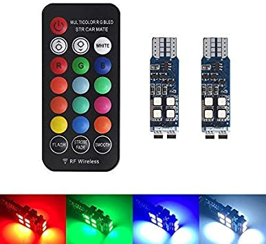 501 W5W RGB Remote LED Interior Bulbs Lights Interior For Ford
