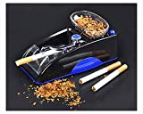Electric Automatic Cigarette Rolling Machine Tobacco Maker Roller Mini Machine Come with Plug, Men's Father's Best Gift (Blue)