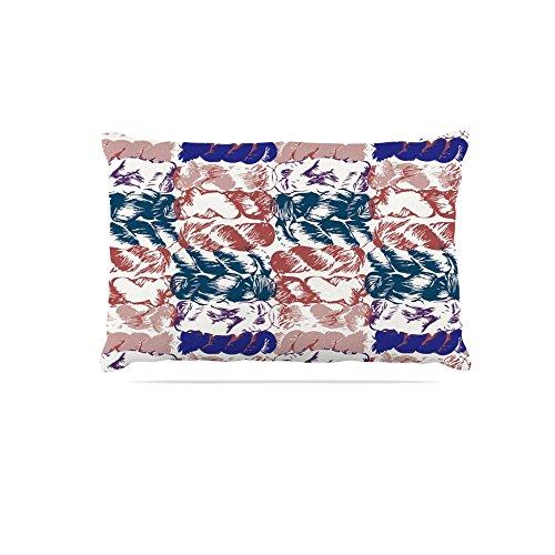 KESS InHouse Fernanda Sternieri Luanda  Teal Tribal Dog Bed, 30  x 40
