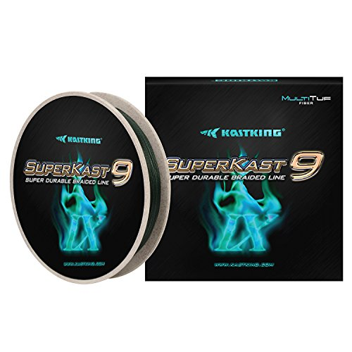 KastKing New SuperKast9-9 Strand Braided Fishing Line - Advanced Braid Line for Maximum Casting Distance & Durability for Saltwater & Fresh Water Surf Fishing, Bass Fishing