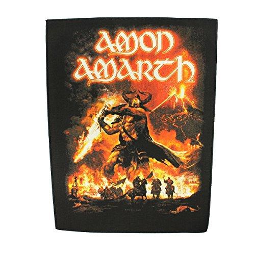 XLG Amon Amarth Surtur Rising Back Patch Album Art Metal Music Sew On Applique