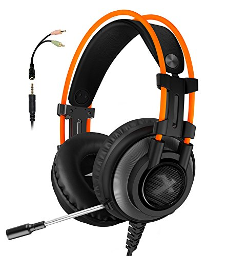 51vLNAF7tzL - Gaming Headset for PS4 Xbox One, Micolindun Over Ear Gaming Headphones with Mic, Stereo Bass Surround, Noise Reduction for Laptop, PC, Mac, iPad, Smartphones