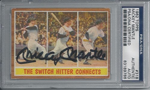 Autographed Mickey Mantle Baseball Cards picture
