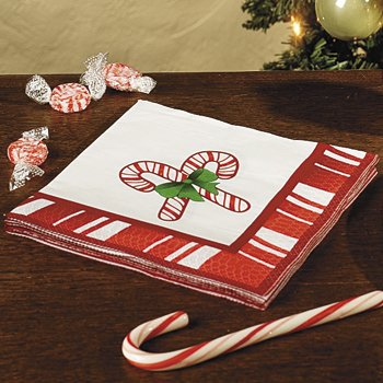 christmas candy cane cocktail napkins - Christmas Candy Games