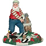 Polyresin Golfing Santa Statuette (6