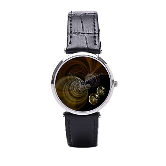 sjfy de piel correa para reloj digital oro Cuff reloj bandas: Amazon.es: Relojes