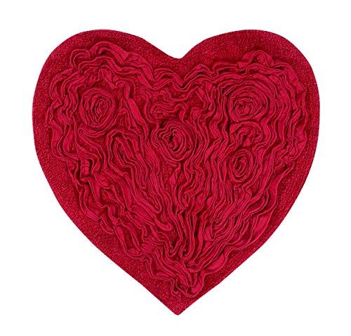 (Home Weavers BBE2525RE Bellflower Heart Bath Rug, 25