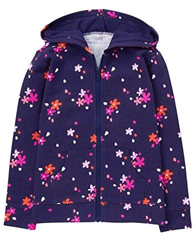Gymboree Girls' Little Printed Hoodie, Navy Floral, L -