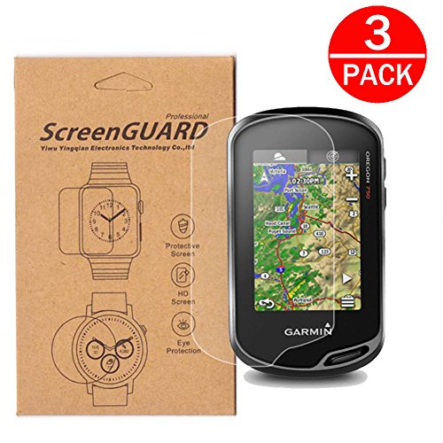- [3-Pack] For Garmin 750 750t Screen Protector,Full Coverage Screen Protector for Garmin Oregon 600t 650 650t 700 750 750t Handheld GPS HD Clear Anti-Bubble and Anti-Scratch