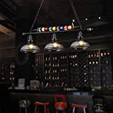 3 Lights Hanging Pool Table Lighting Industrial