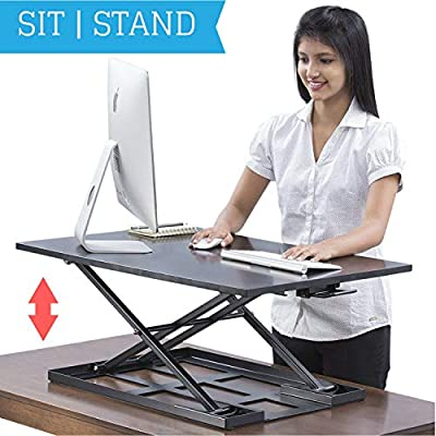 Mesa escritorio de pie Jack convertidor – 32 x 22 pulgadas extra ...