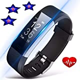 N&G STARS Fitness Tracker with Heart Rate Monitor ID115PlUS HR (VERYFIT PRO APP), Smart Watch, Activity Tracker with GPS Tracker, Step Counter, IP67 Waterproof Bluetooth Pedometer for Android and iOS