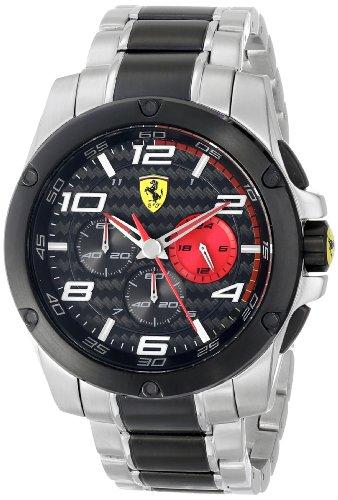 Ferrari Men s 830032 Analog Display Japanese Quartz Silver Watch