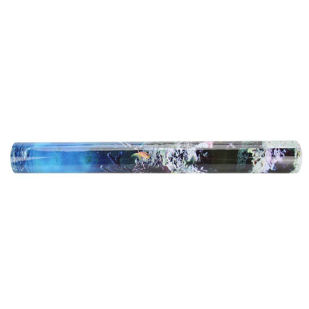 122 * 50cm Mumusuki PVC Adhesivo Submarino Coral Acuario Pecera Fondo Cartel Tel/ón de Fondo Decoraci/ón de Oficina en casa Papel