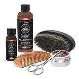 Breett Beard Oil Kit 6 Pcs, Natural Beard Oil, Beard Ointment, Beard Wash, Stainless Steel Beard Scissors, Beard Comb, Pork Silk Beard Brush