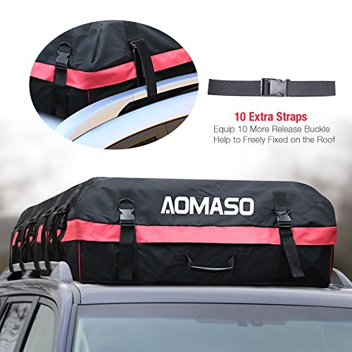 Aomaso Car Roof Bag Cargo Bag, 10 Cubic Feet Foldable And