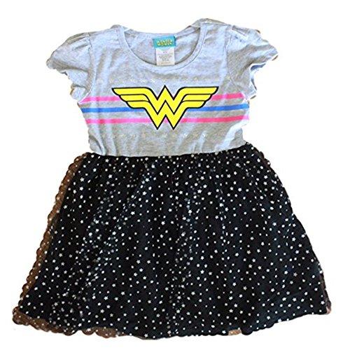 Wonder Woman Costume for Girls, Superhero, Batgirl, Supergirl, Batman vs.Superman Dawn of Justice, Tutu (Superhero Dresses)