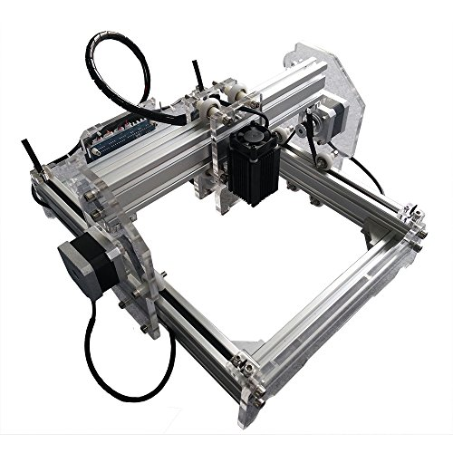 2500 mW Desktop DIY Laser Engraver Engraving Machine CNC Printer aluminium alloy and acrylic Material Size A5 (Alloy Acrylic)