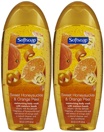 Softsoap Moisturizing Body Wash - Honeysuckle & Orange Peel - 18 oz - 2 pk