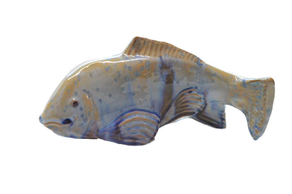 Fish In The Garden - Ceramic Garden Koi - Crystal - Medium Right
