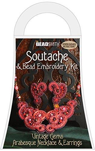 Soutache Embroidery Arabesque Necklace Earrings
