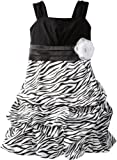 Amy Byer Girls 7-16 Zebra Pickup Dress, Black, 16 image