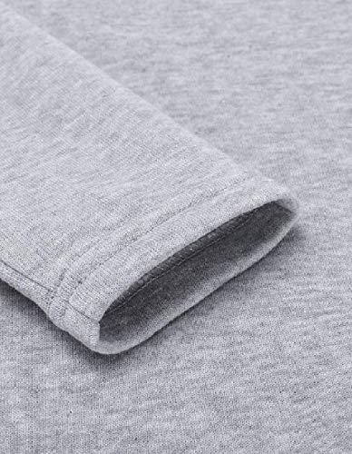 Long QianQian Stylish Hood Sleeves Kangaroo Dresses Grey Pocket Women Drawstring AU Casual 0qwr0A