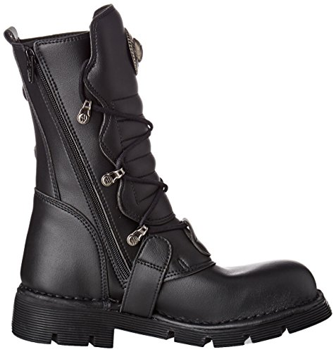 New Noir 1473 Adulte Rock v1 M Bottes Mixte Motardes black aZarqw