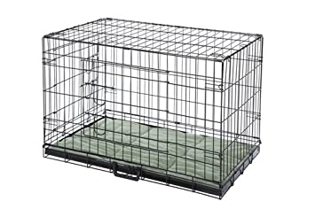 confidence pet 2 door dog cage crate with bed xl