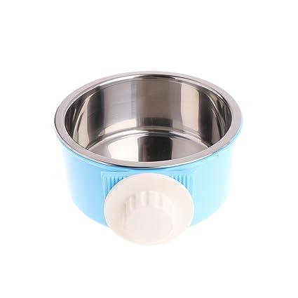 JAGENIE - Comedero fijo para mascotas (acero inoxidable, para comida de perro, gato, conejo)