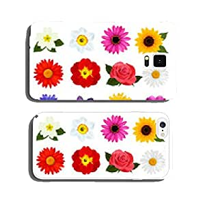 Big collection of colorful flowers. Vector illustration. cell phone cover case iPhone6 Plus