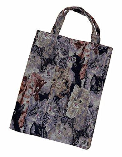 Tragetasche Einkaufstasche Einkaufsbeutel Tasche Beutel Bag mit Katzen Motiv Design NEU