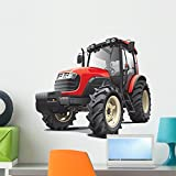 Wallmonkeys Red Tractor Wall Decal Peel and Stick Graphic (24 in W x 21 in H) WM67130